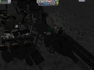 Jebediah moves a parts container around